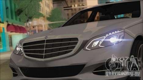 Mercedes-Benz E63 AMG 2014 для GTA San Andreas вид изнутри