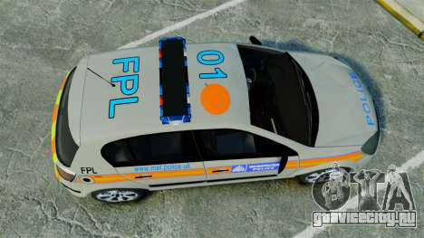 Vauxhall Astra Metropolitan Police [ELS] для GTA 4 вид справа