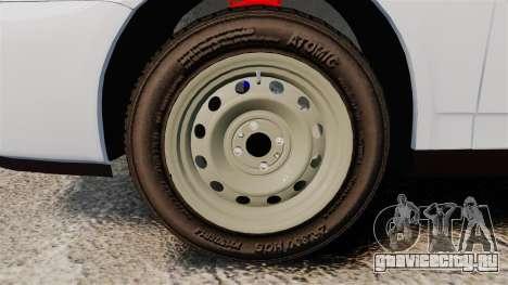 ВАЗ-2170 Полиция для GTA 4 вид сзади