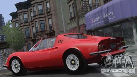Ferrari Dino 246 GTS для GTA 4 вид сбоку