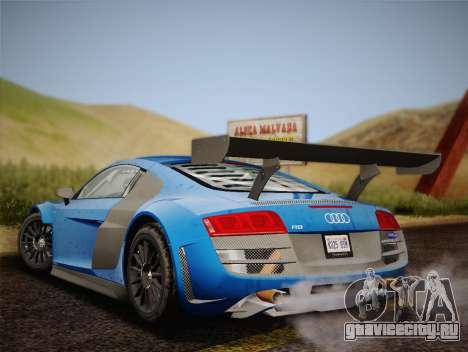 Audi R8 LMS v2.0.4 DR для GTA San Andreas вид справа