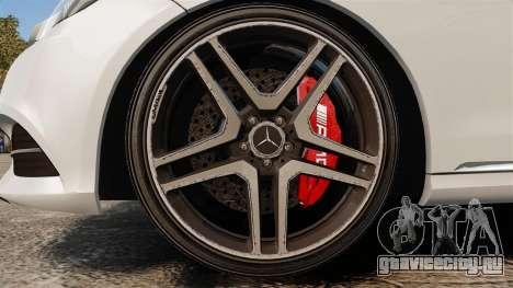Mercedes-Benz E63 AMG 2014 v2.0 для GTA 4 вид сзади