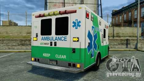 Brute GQ Med Ambulance [ELS] для GTA 4 вид сзади слева