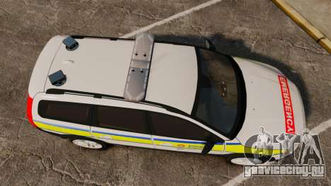 Volvo XC70 Emergency Response Unit [ELS] для GTA 4 вид справа