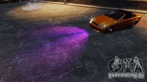 Фиолетовый свет фар для GTA 4