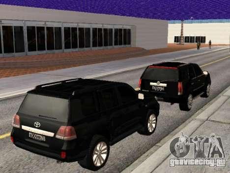 Cadillac Escalade 2010 для GTA San Andreas вид изнутри