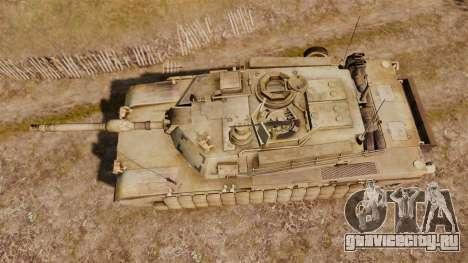 M1A2 Abrams для GTA 4 вид справа