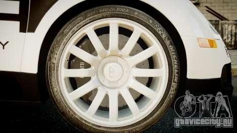 Bugatti Veyron 16.4 Police NFS Hot Pursuit для GTA 4 вид сзади слева