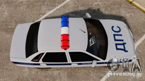 ВАЗ-2170 Полиция для GTA 4 вид справа