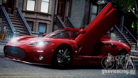 Spyker C8 Aileron Spyder v2.0 для GTA 4 вид сверху