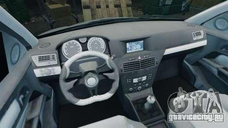 Vauxhall Astra Metropolitan Police [ELS] для GTA 4 вид сзади