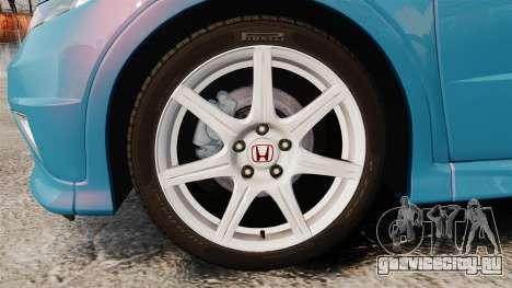 Honda Civic Type R 2007 для GTA 4 вид сзади