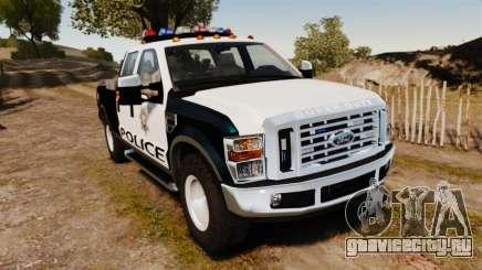 Ford F-250 Super Duty Police [ELS] для GTA 4