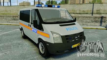 Ford Transit Metropolitan Police [ELS] для GTA 4