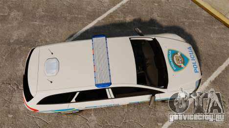 Ford Mondeo Croatian Police [ELS] для GTA 4 вид справа