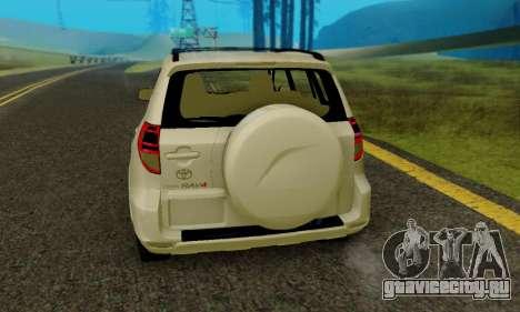 Toyota RAV4 для GTA San Andreas вид справа