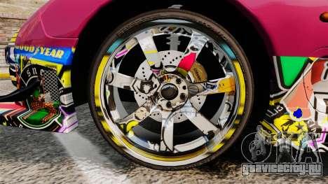 Mazda RX-7 D1 Sticker Bomb для GTA 4 вид сзади