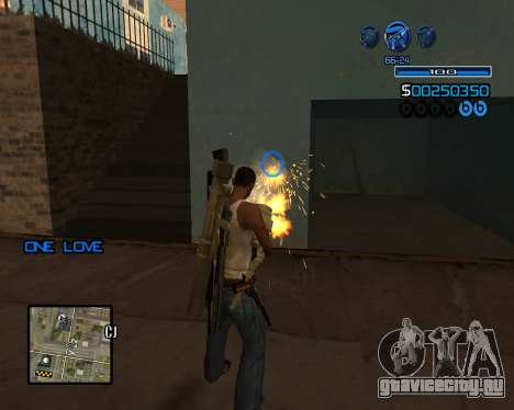C-HUD Minimal для GTA San Andreas третий скриншот