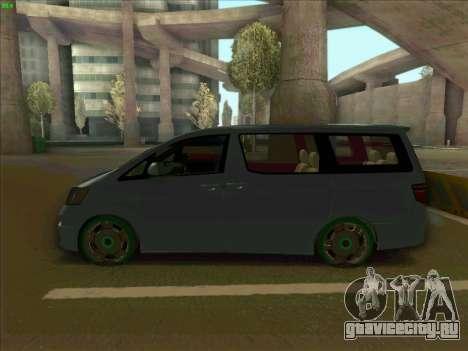 Toyota Alphard для GTA San Andreas вид слева