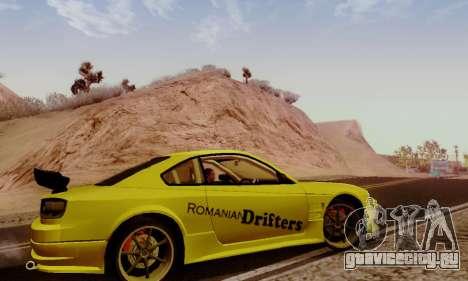 Nissan Silvia S15 Romanian Drifters для GTA San Andreas вид сзади