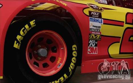 Ford Fusion NASCAR Sprint Cup 2013 для GTA San Andreas вид сзади слева