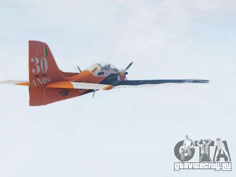 Embraer T-27 Tucano 30 Anos для GTA San Andreas вид слева