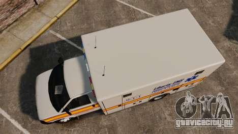Brute Speedo LEMS Ambulance [ELS] для GTA 4 вид справа