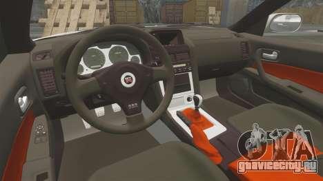 Nissan Skyline GT-R R34 V-Spec II для GTA 4 вид сбоку