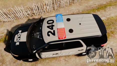 Ford Explorer 2013 LCPD [ELS] Black and Gray для GTA 4 вид справа