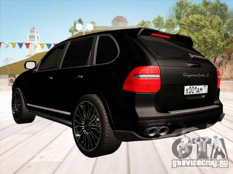 Porsche Cayenne Turbo S 2010 Stock для GTA San Andreas вид изнутри