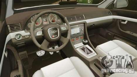 Audi S4 Avant Hungarian Police [ELS] для GTA 4 вид сбоку