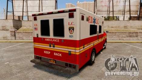 Brute FDLC Ambulance для GTA 4 вид сзади слева