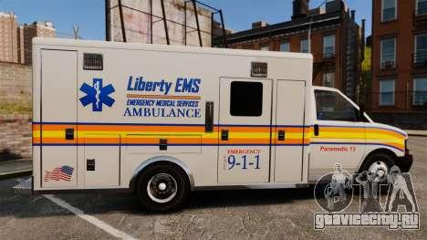 Brute Speedo LEMS Ambulance [ELS] для GTA 4 вид слева