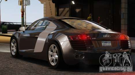 Audi R8 v1.1 для GTA 4 вид слева