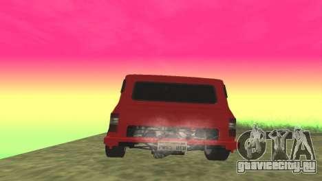 Ford Transit Supervan 3 Пользовательские для GTA San Andreas вид сзади слева
