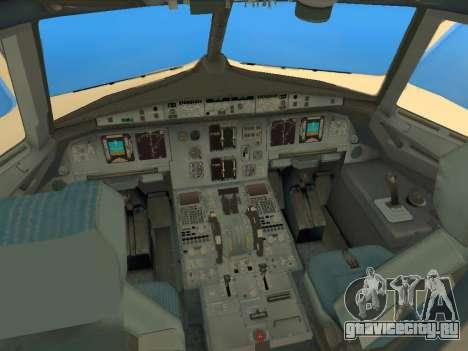 Airbus A320-200 Saudi Arabian для GTA San Andreas вид изнутри