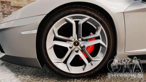 Lamborghini Aventador LP700-4 2012 [EPM] v1.1 для GTA 4 вид сзади
