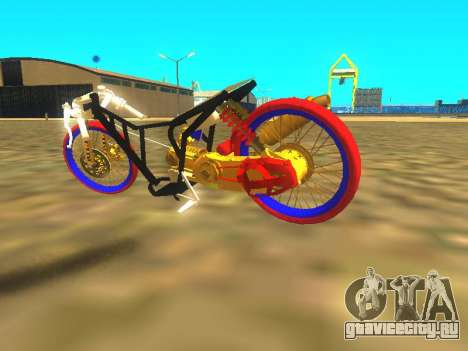 Drag Mio Full GOLD для GTA San Andreas вид изнутри