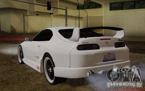 Toyota Supra TRD для GTA San Andreas вид слева