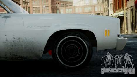 Chevrolet El Camino 1973 Old для GTA 4 вид сзади