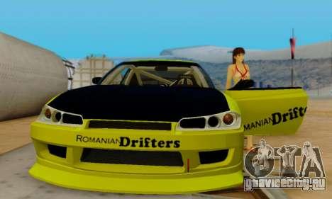 Nissan Silvia S15 Romanian Drifters для GTA San Andreas вид сверху