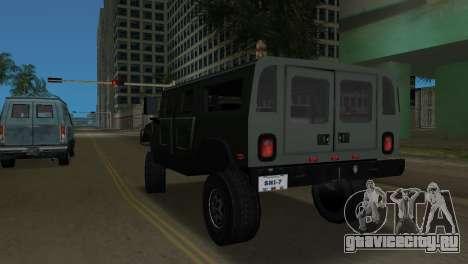 Hummer H1 Wagon для GTA Vice City вид сзади слева