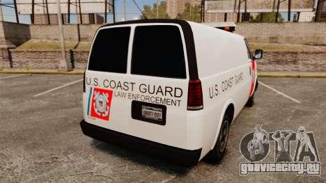 Vapid Speedo U.S. Coast Guard для GTA 4 вид сзади слева