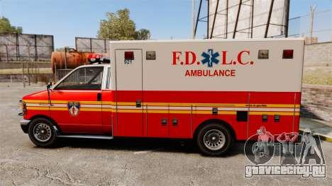Brute FDLC Ambulance для GTA 4 вид слева