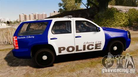 Chevrolet Tahoe 2008 LCPD [ELS] для GTA 4 вид слева