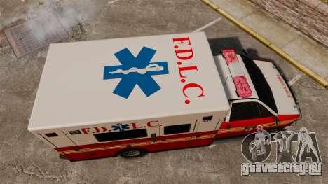 Brute FDLC Ambulance для GTA 4 вид справа