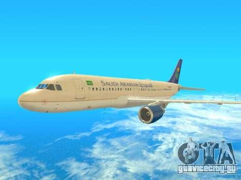 Airbus A320-200 Saudi Arabian для GTA San Andreas