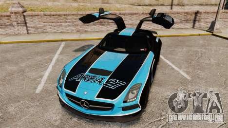 Mercedes-Benz SLS 2014 AMG Black Series Area 27 для GTA 4 вид сверху