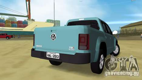 Volkswagen Amarok 2.0 TDi AWD Trendline 2012 для GTA Vice City вид слева