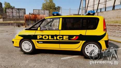 Renault Espace Police Nationale [ELS] для GTA 4 вид слева